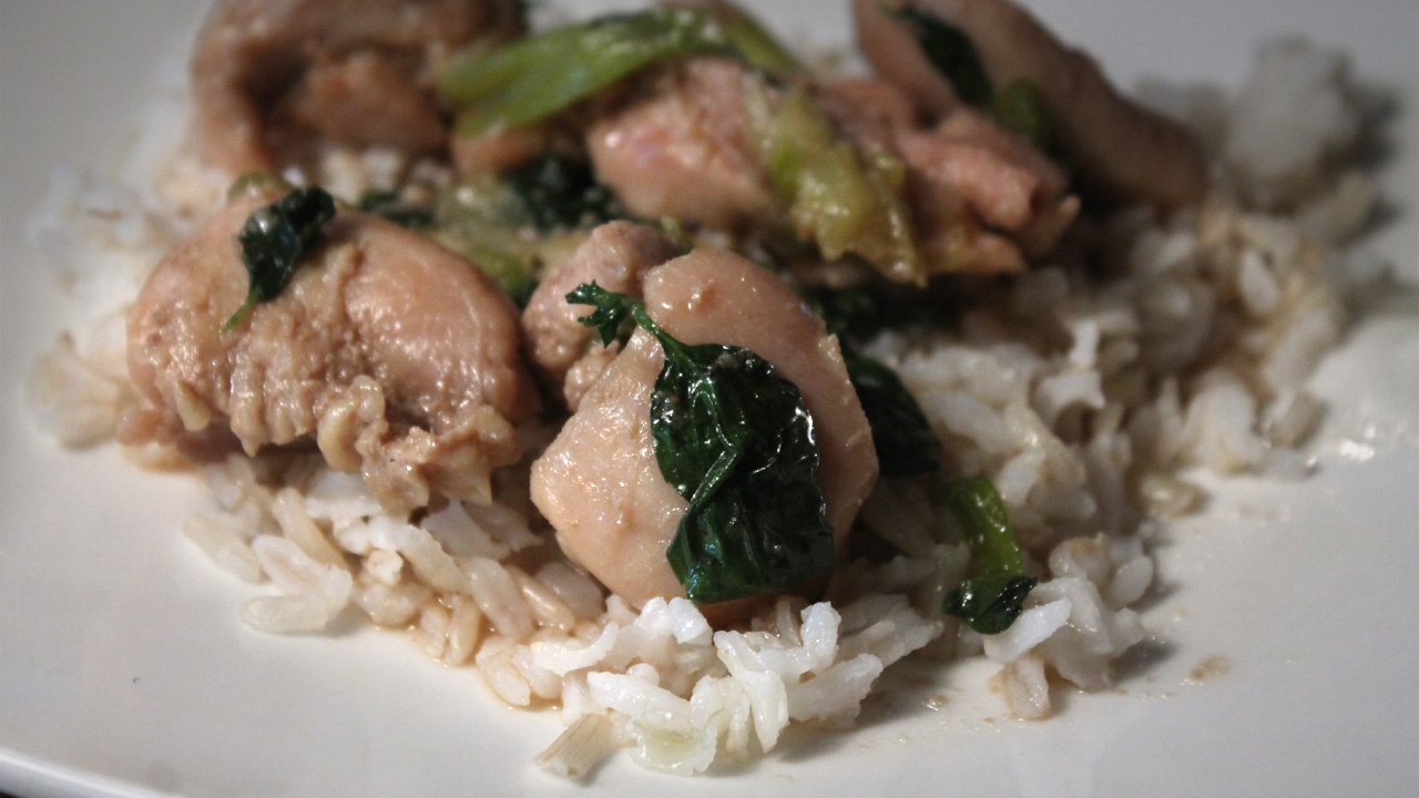 The 99 Cent Chef: Chicken & Basil Stir Fry - Video Recipe