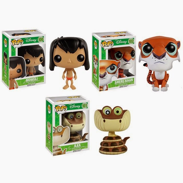 The Jungle Book Pop! Disney Vinyl Figures by Funko - Mowgli, Shere Khan & Kaa