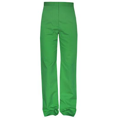 stella mccartney green wide leg high waist spring 2013 pants