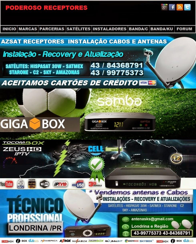 INSTALADOR DE ANTENAS 43-84368791- 99775373  EM LONDRINA ,CAMBÉ,IBIPORÃ,azbox,azamerica,parabolicas