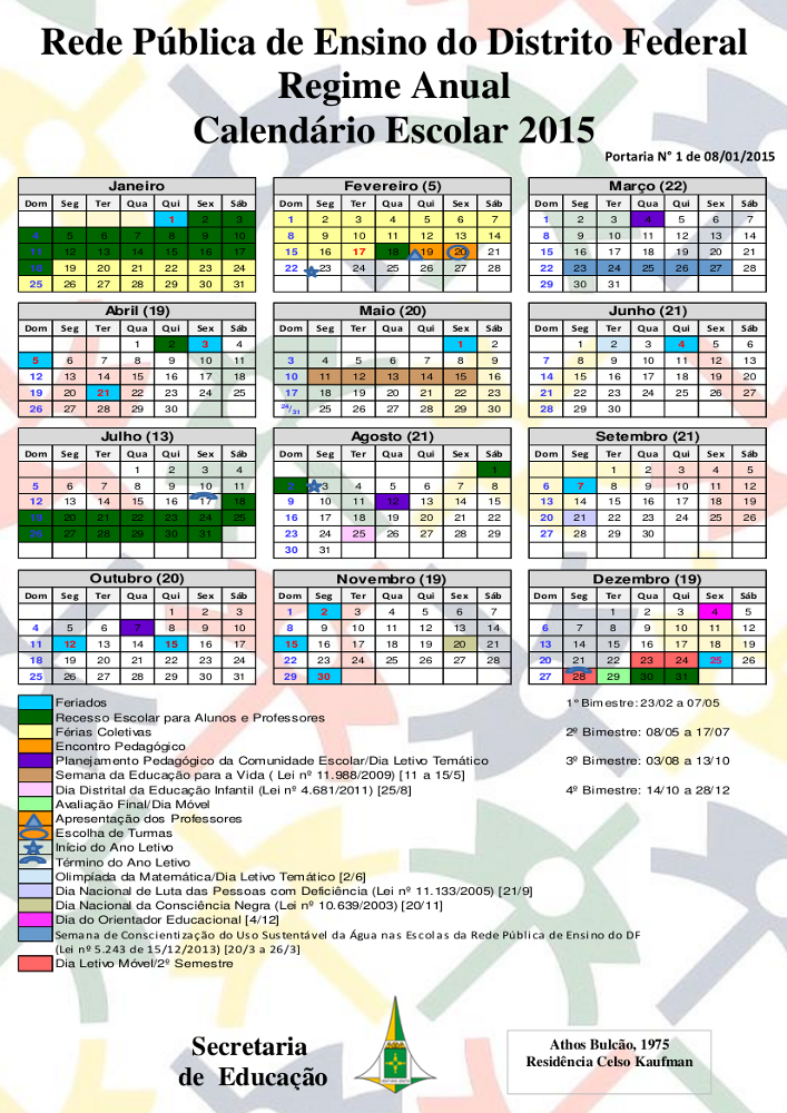 Calendário 2015