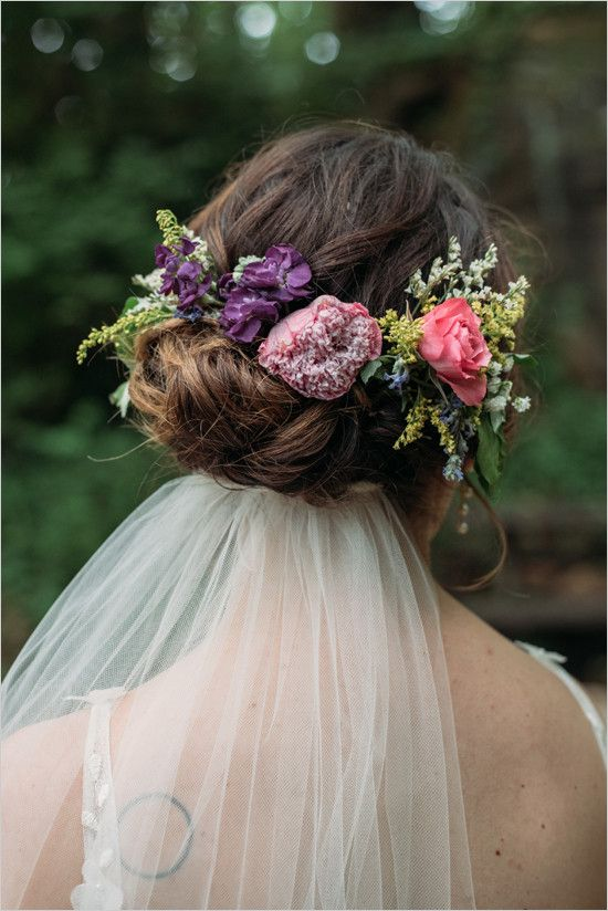Wedding Hairstyles With Flowers And Veil
