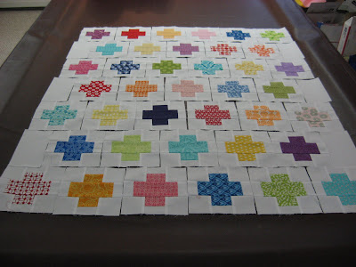 Swap Charms Plus Quilt ~ So Colorful!