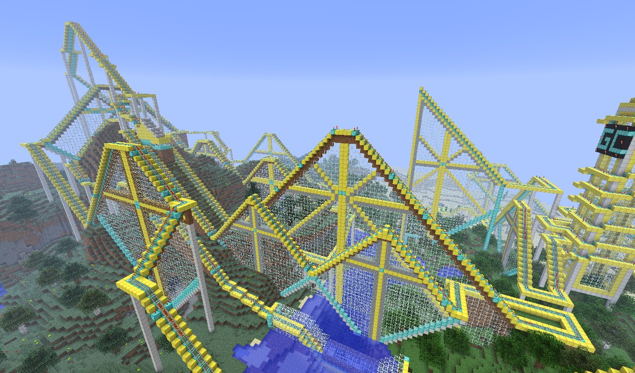 How To Build An Awesome Roller Coaster In Minecraft