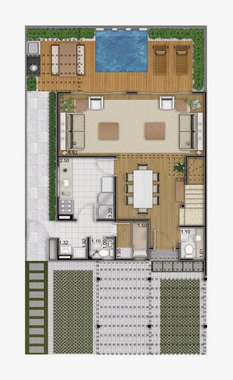 Planta de casa sobrado de 126 m2 plantas de casas - Casas on line ...