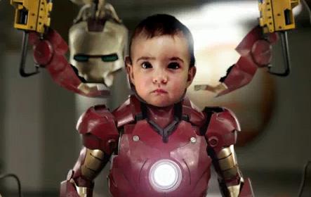 Ini Bukan Iron Man, Ini Iron Baby!