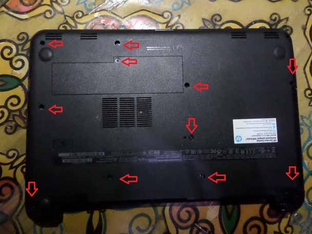 Ganti Hardisk Notebook HP Pavillion 14-R110TU