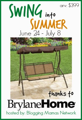 Enter the Brylane Home Swing Giveaway. Ends 7/8.