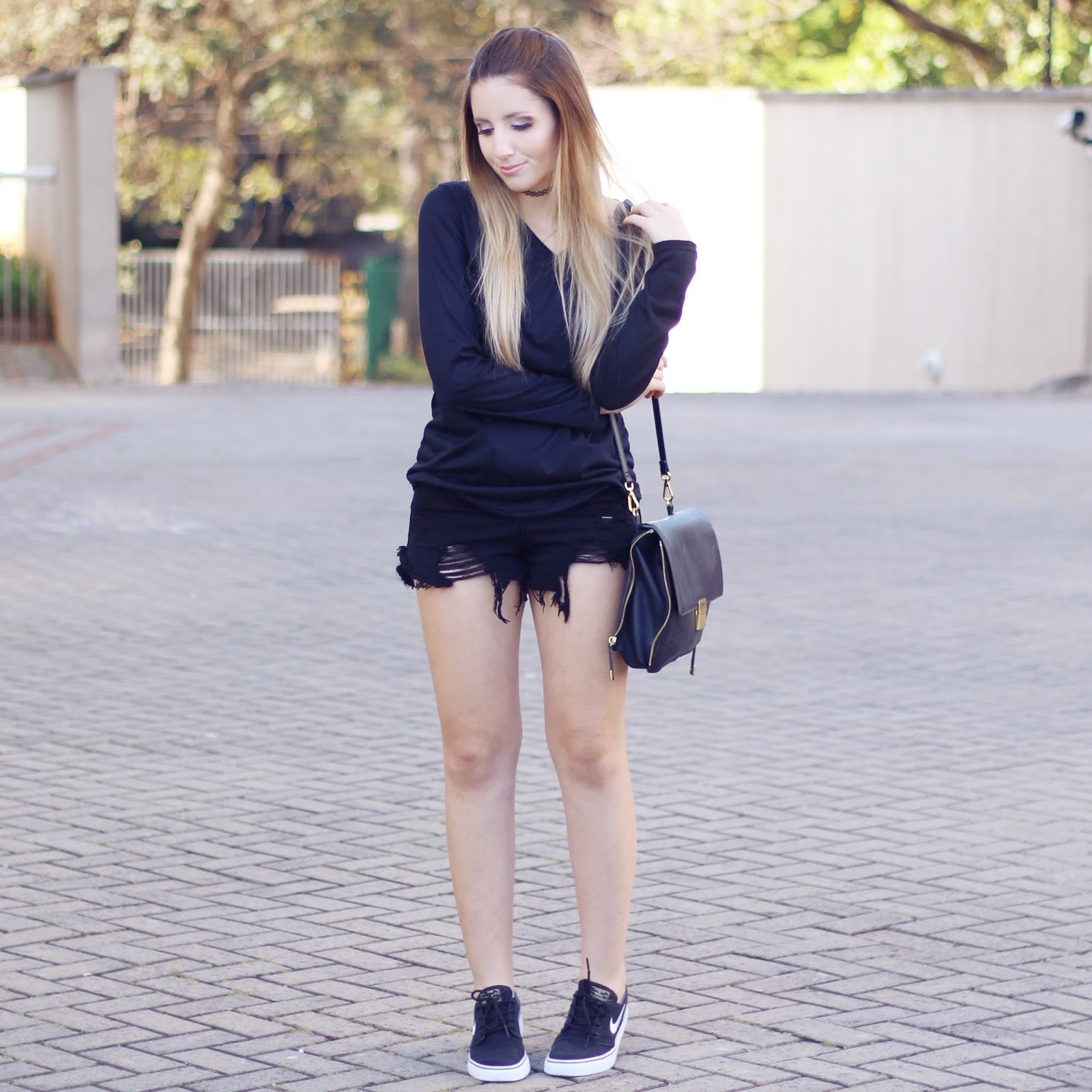 look do dia total black com tênis