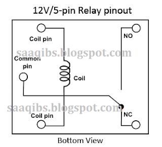 Simple Clap Switch Circuit Diagram - Circuit diagram of 5 pin relay