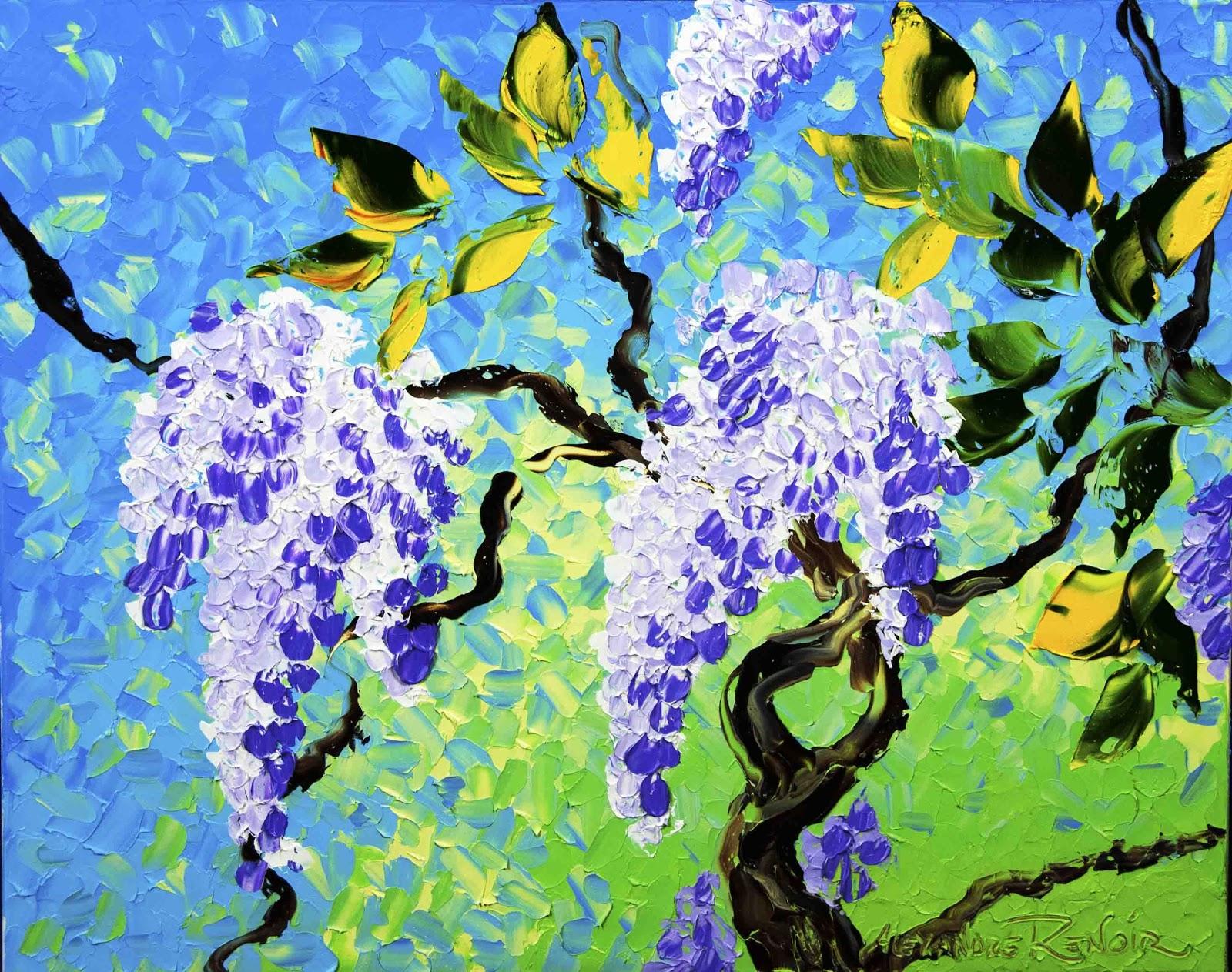 Alexandre Renoir Lilacs in  loom