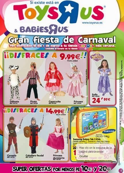 toysrus oferta disfraces de carnaval 2014