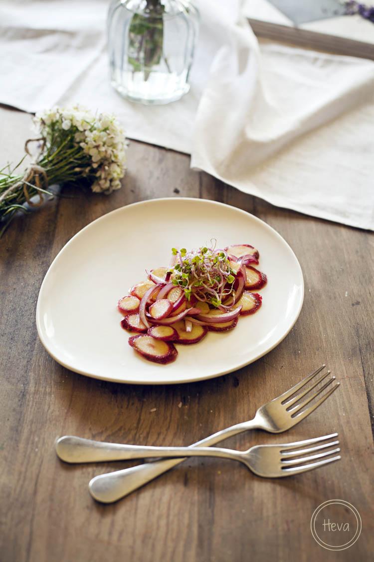Ensalada de zanahoria morada