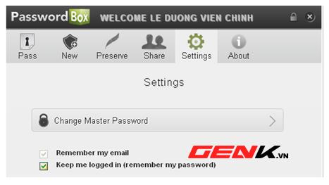 Tăng cường bảo mật tài khoản trực tuyến với PasswordBox