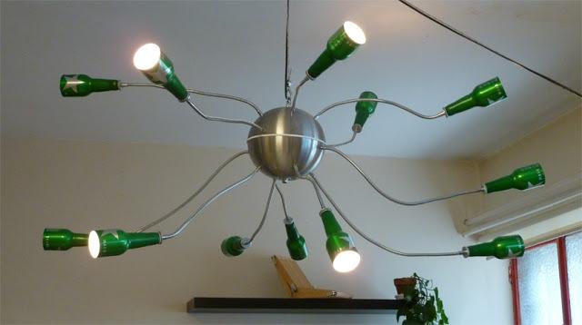 Ecomania blog ingeniosas l mparas recicladas parte 1 - Como hacer lamparas con botellas de vidrio ...