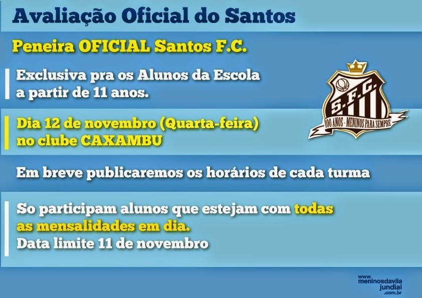 PENEIRA OFICIAL SANTOS F.C.