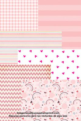 papeles rosas para bebe