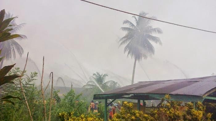 Kebakaran di Pekapuran : 15 Buah Rumah Hangus Terbakar