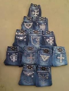 Adornos de Navidad con Jeans Reciclados