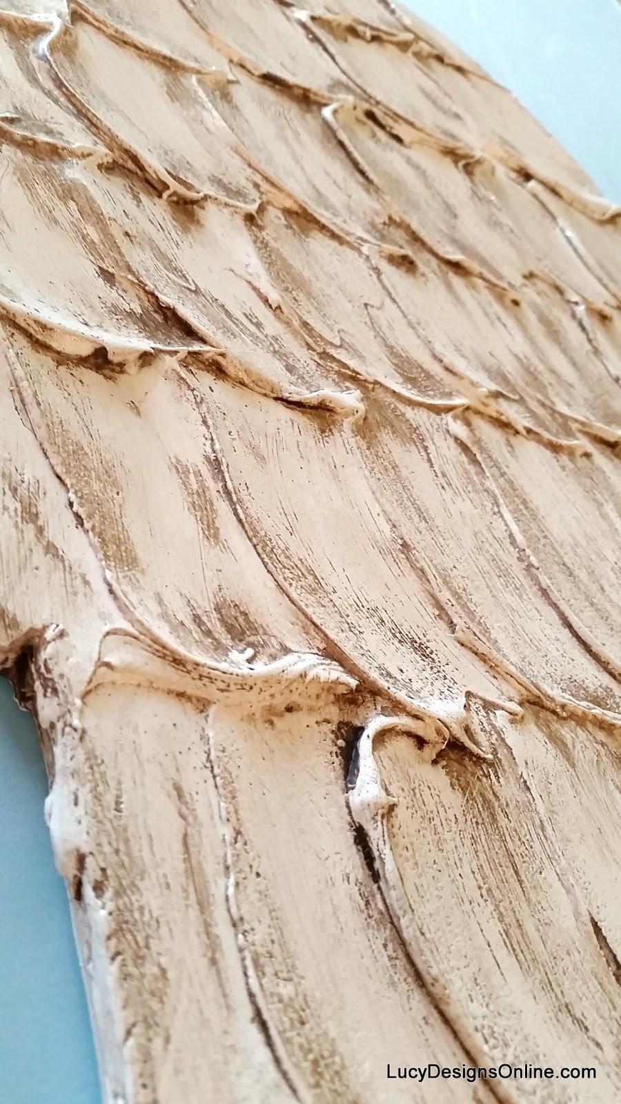 Cute wood angel wing art