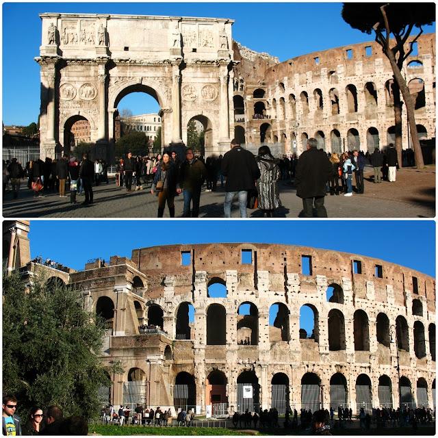 Łuk Klaudiusza oraz Koloseum