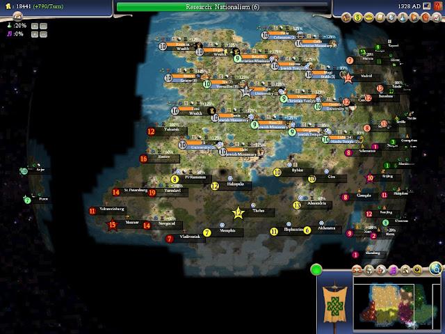 Civilization 4 - World Map Screenshot