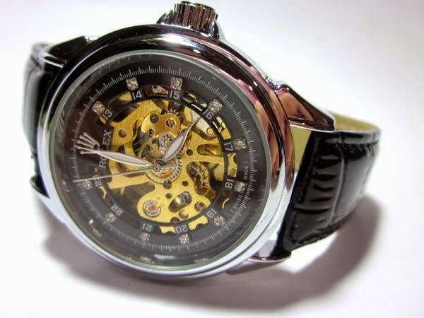 jam tangan rolex automatic tanpa baterai