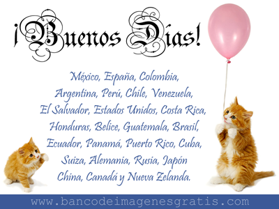 ¡Buenos Días a todas las personas que nos visitan desde diversos países de América Latina, Europa y Asia!