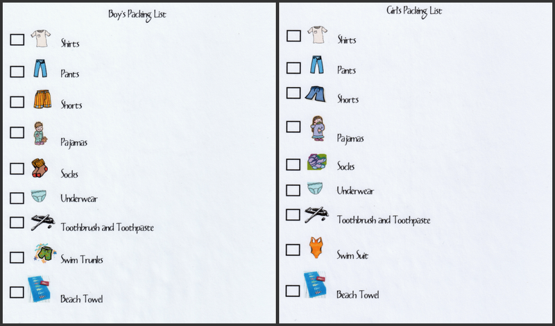 Printable Packing List For Boys and Girls The Gunny Sack – Vacation Packing Checklist