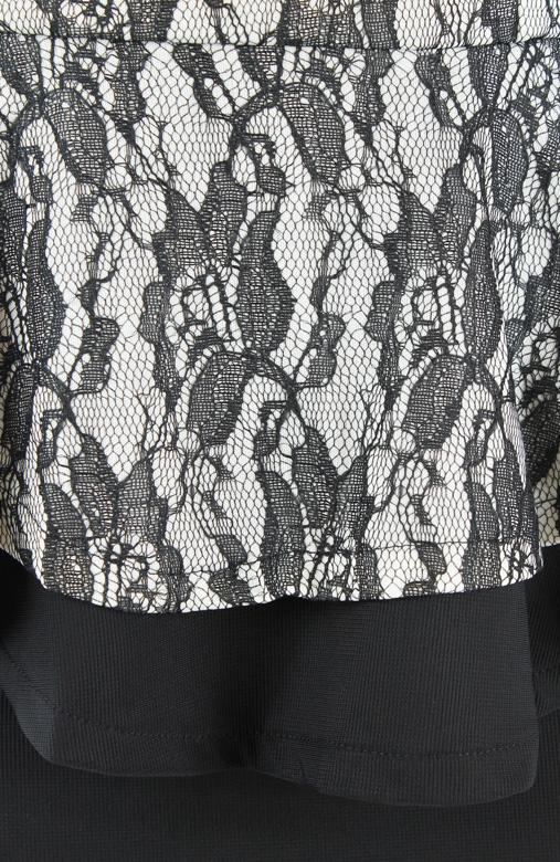 Venetian Bloom Structured Peplum Dress
