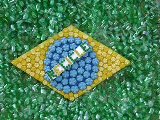 Fazendo Arte com a Bandeira do Brasil Semana da Pátria