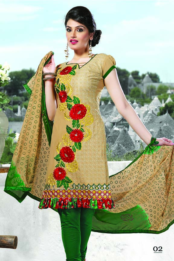 Cotton designer salwar suit embroidery dress