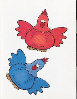 Imagens para decoupage de galinhas coloridas