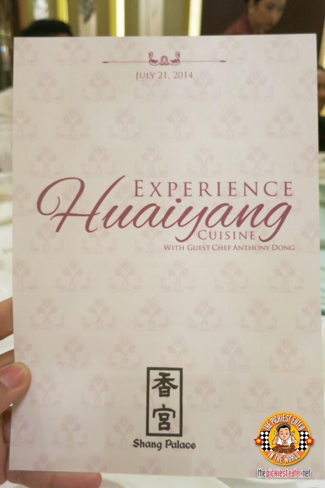 huaiyang menu