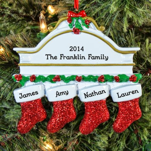Personalized White Family Mantle Ornament Giveaway ends 12/9