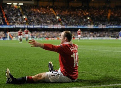 Man Utd champions league quarter finals Wayne Rooney scored