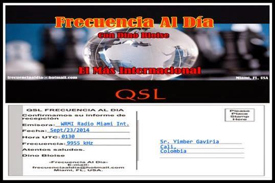 eQSL de Frecuencia al Día