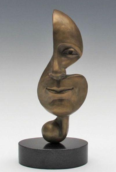Michael Alfano esculturas de corpos rostos surreais bronze cobre Música