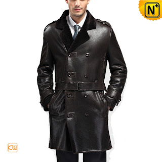 long black sheepskin coat
