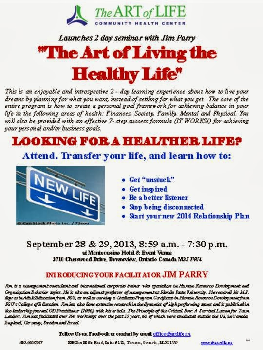 The art of life community health center invitation the art of poster the art of living the healthy life seminar with jim parry stopboris Gallery