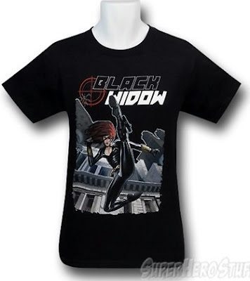 Click here to buy this Black Widow t-shirt at SuperHeroStuff!