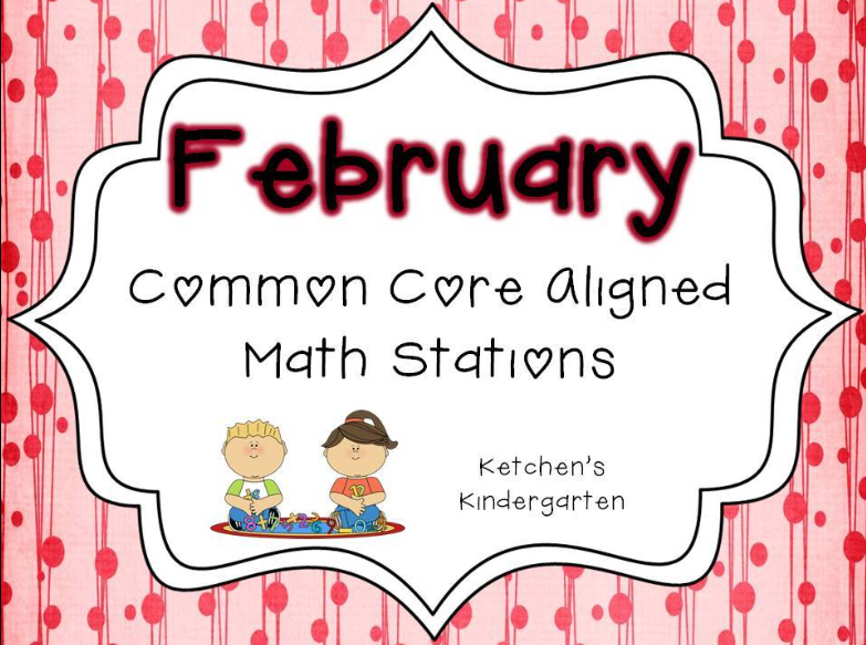 http://www.teacherspayteachers.com/Product/February-Themed-Math-Centers-Common-Core-Aligned-527601