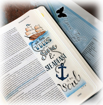 Diana Nguyen, illustrated faith, Bible Journaling, Hebrews, anchor