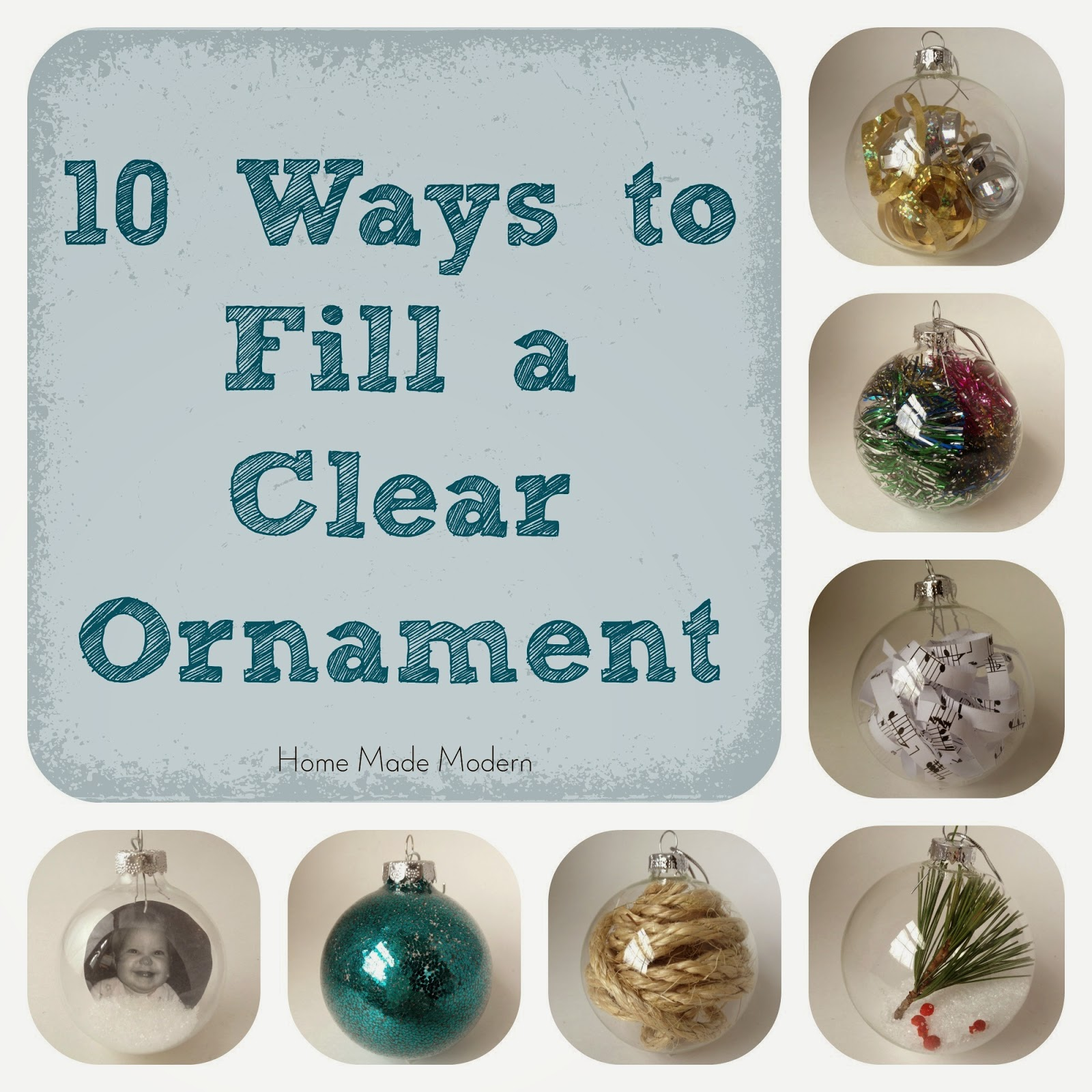 Home made modern how to make personalized christmas ornaments for Christmas ornament ideas