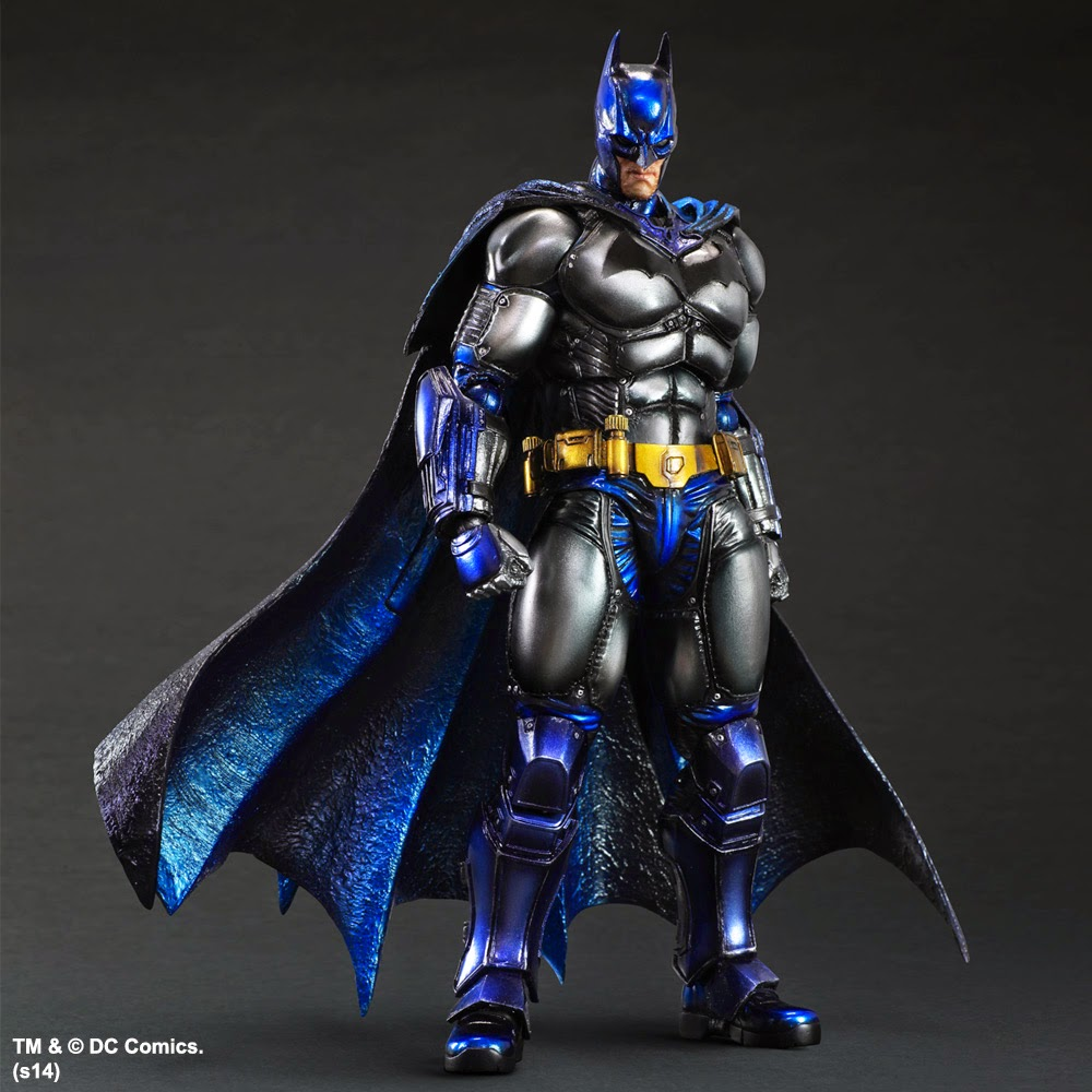 San Diego Comic-Con 2014 Exclusive Metallic Batman: Arkham Origins Play Arts Kai Action Figure by Square Enix