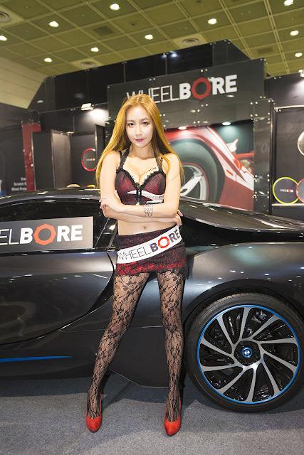 3 Oh Ah Hee - 2015 Seoul Auto Salon - very cute asian girl-girlcute4u.blogspot.com