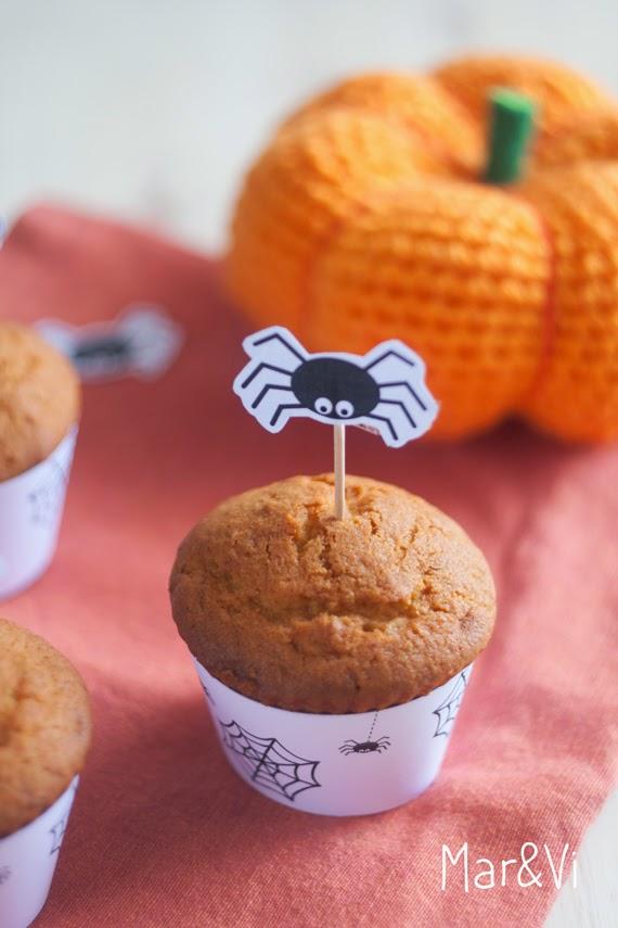 Ricetta dei muffins alla zucca e wrappers da stampare gratis