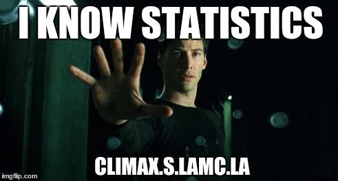 I KNOW STATISTICS.  MATH.S LAMC.LA