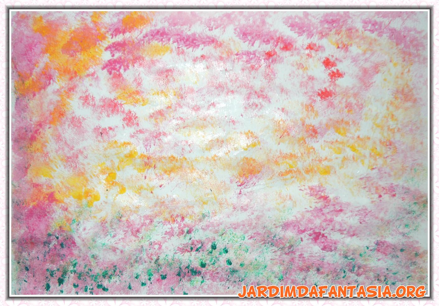 Extremamente Atividades Jardim da Fantasia: Artes Técnica de Pintura com Cola  PZ16
