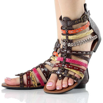 Fashion Trends  2012 on Designer Fashion Shoe Trends 2012 Collection   Girls Flat Sandals